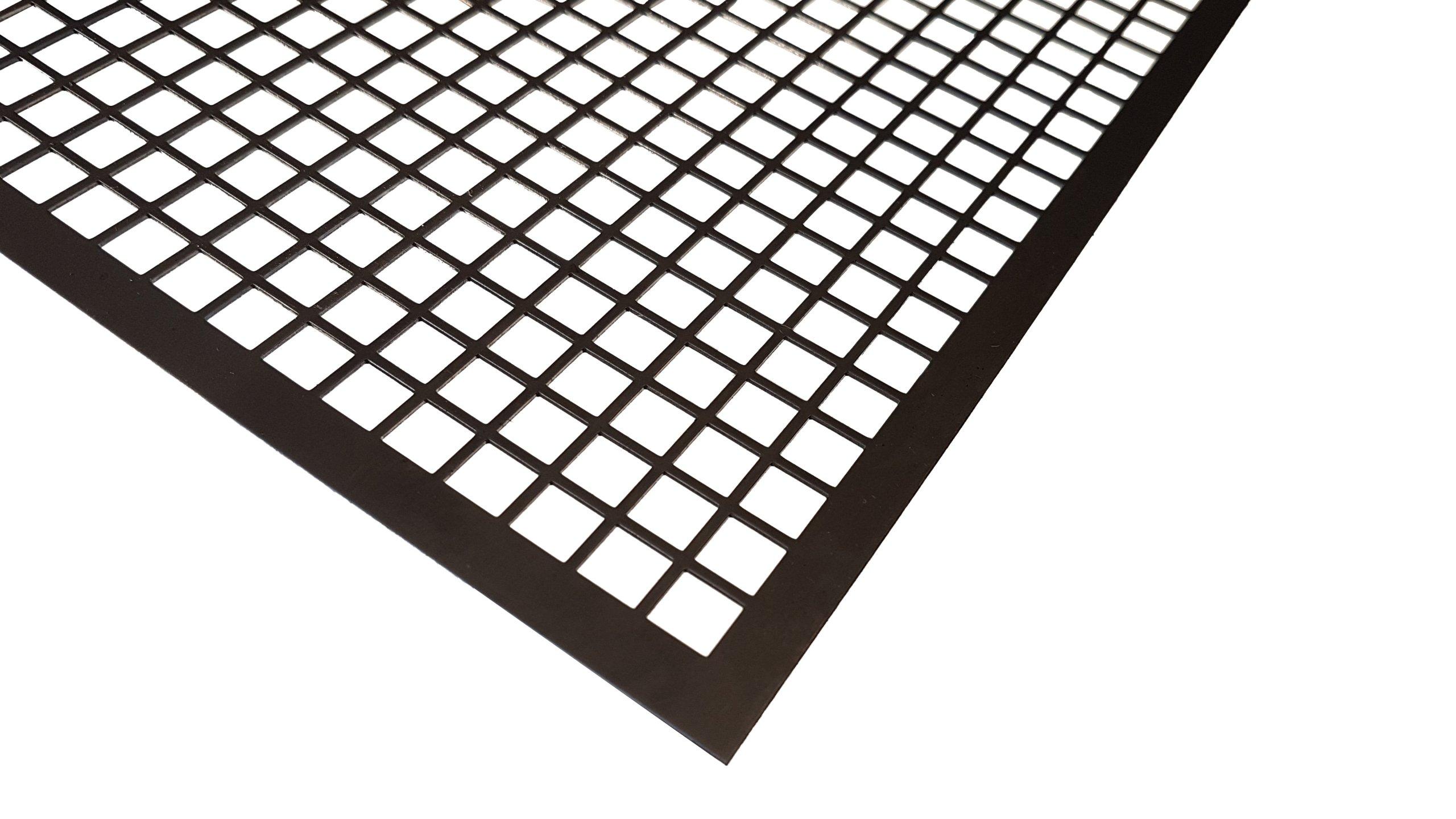 BLACHA PERFOROWANA 1000 x 2000 1 mm 10-12 czarna
