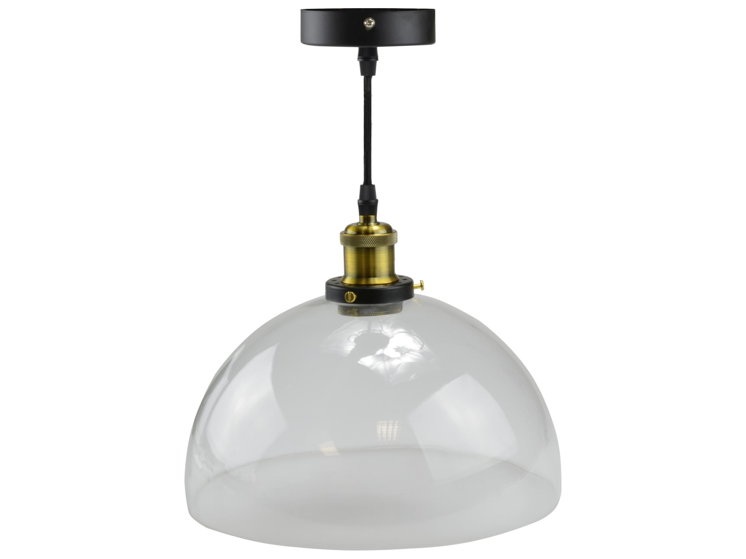 Sklenený prívesok lampa retro vintage Edison loft