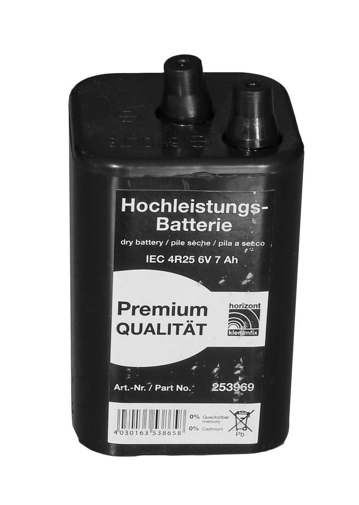 Батарея для дорожного фонаря 6V 7Ah H4R25
