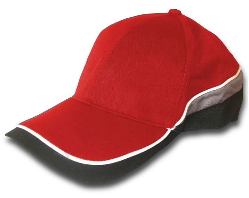 Pracovný baseballový uzáver CBI červená