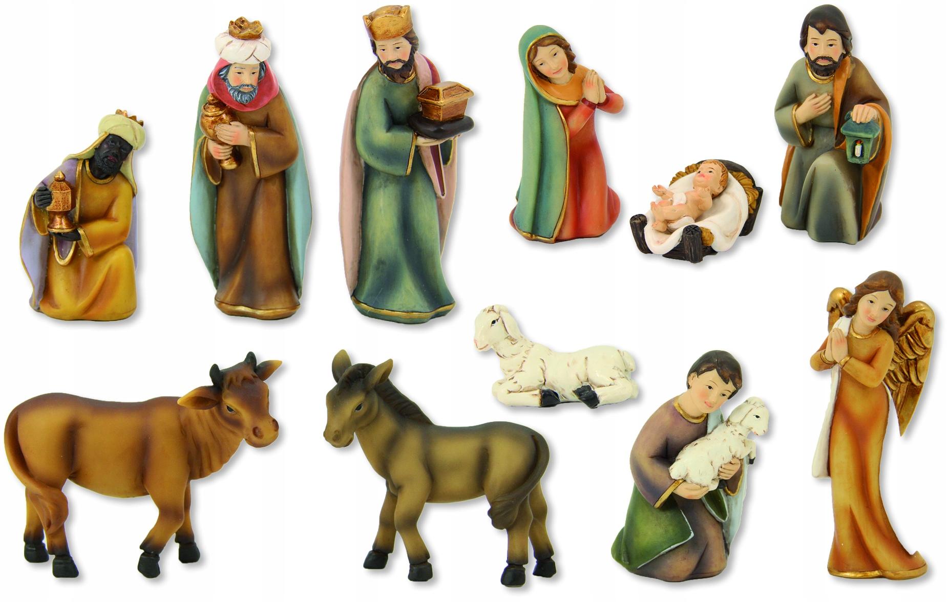 Krásne moderné postavičky pre betlehemy, 11 častí, 8,0 cm