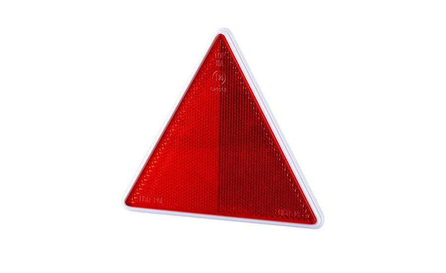 треугольник отблеск красный рамка на 2 болты uot024