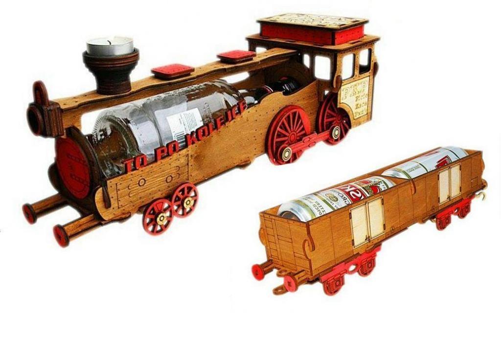 Vlak na fľašu + vagón darček k narodeninám 18 30 40