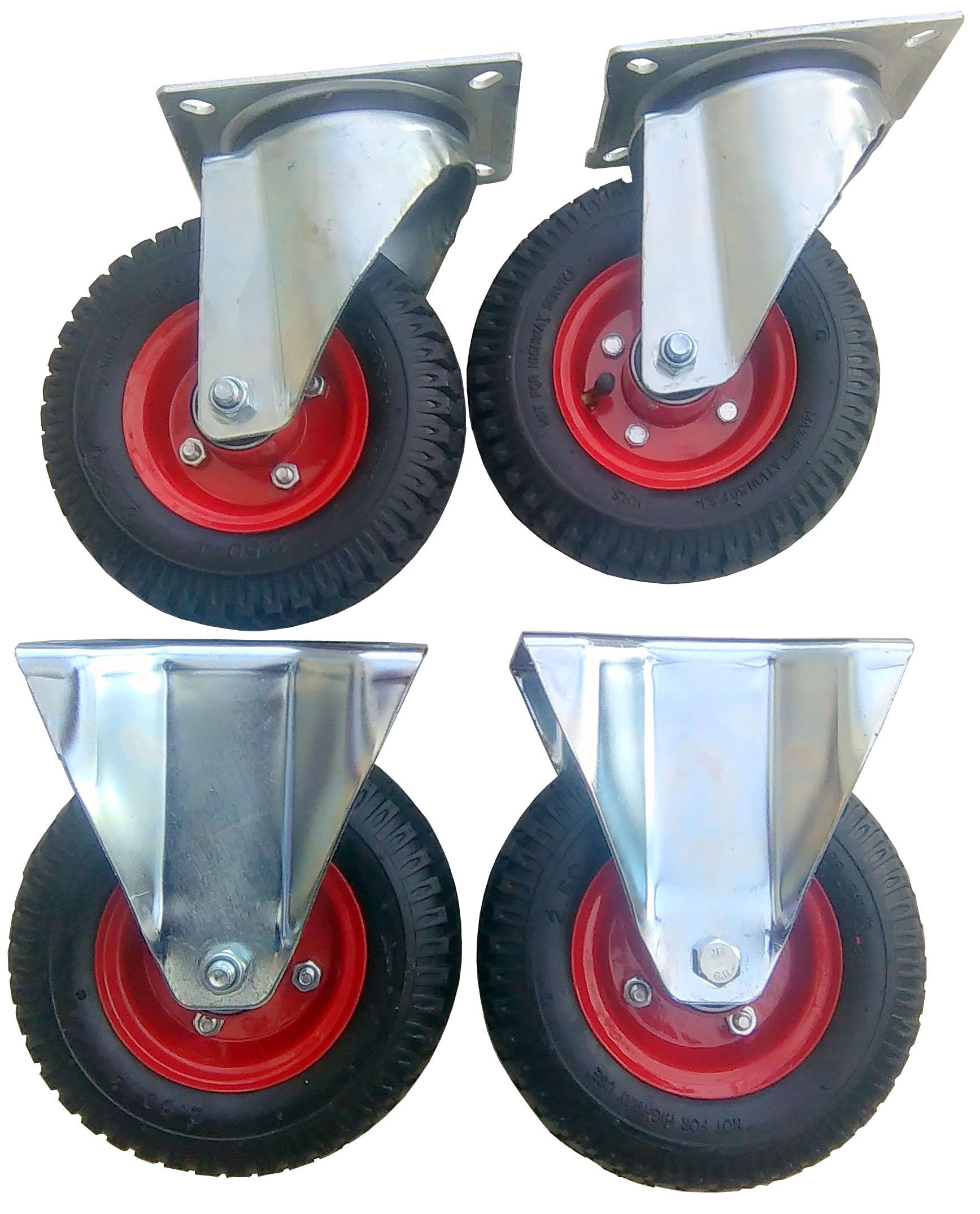 Sada 4 Ks 220 mm cca 300 kg koleso rotácie.