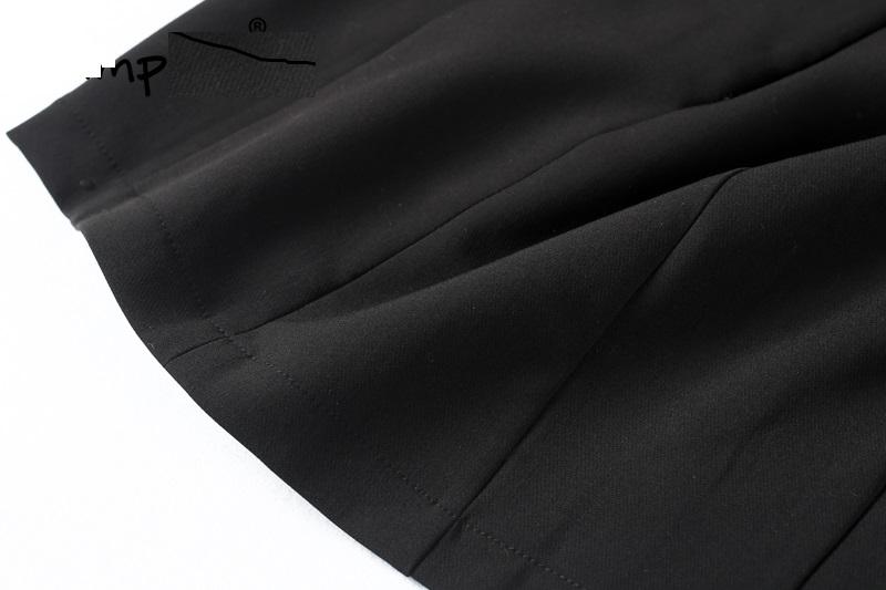 Pleciona mini kobieca czarna wiązanie stylowa L 40