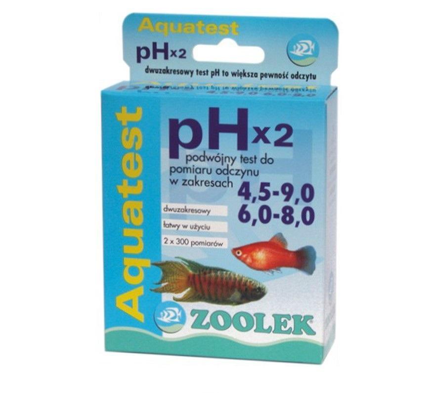 ZOOLEK AQUA TEST pH 2x 4.5-9 и 6-8 КИСЛОТНОСТЬ ВОДЫ