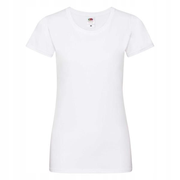 Fruit of the loom t-shirt koszulka LadySof White S