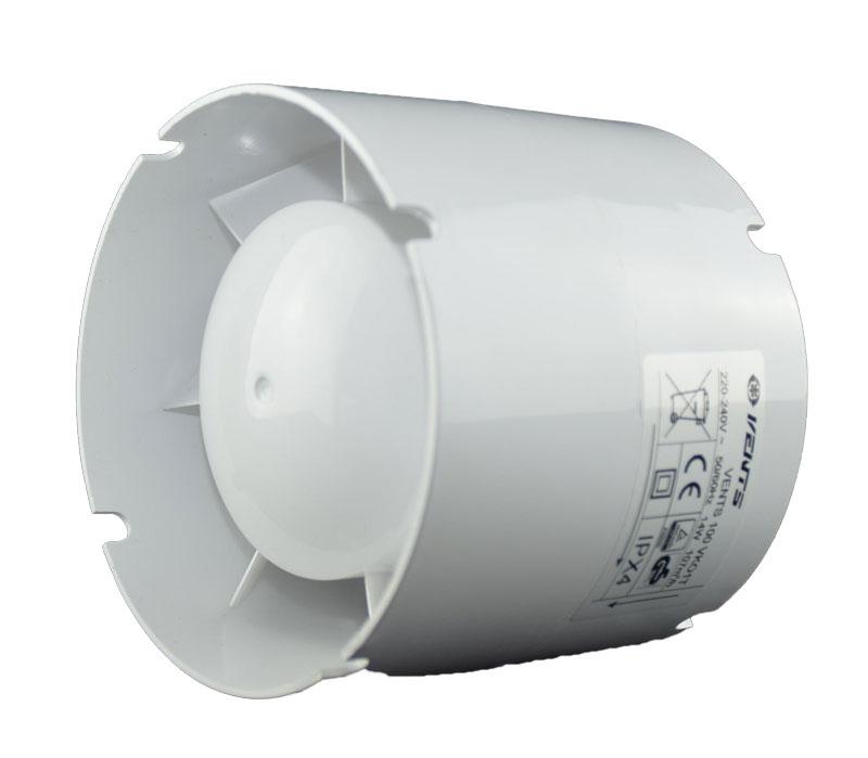 Venta ventilátora kanálov Fi 100 VKO1T 107M3 Časovač