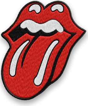 Нашивка Rolling Stones Thermo вышитая 60х70мм