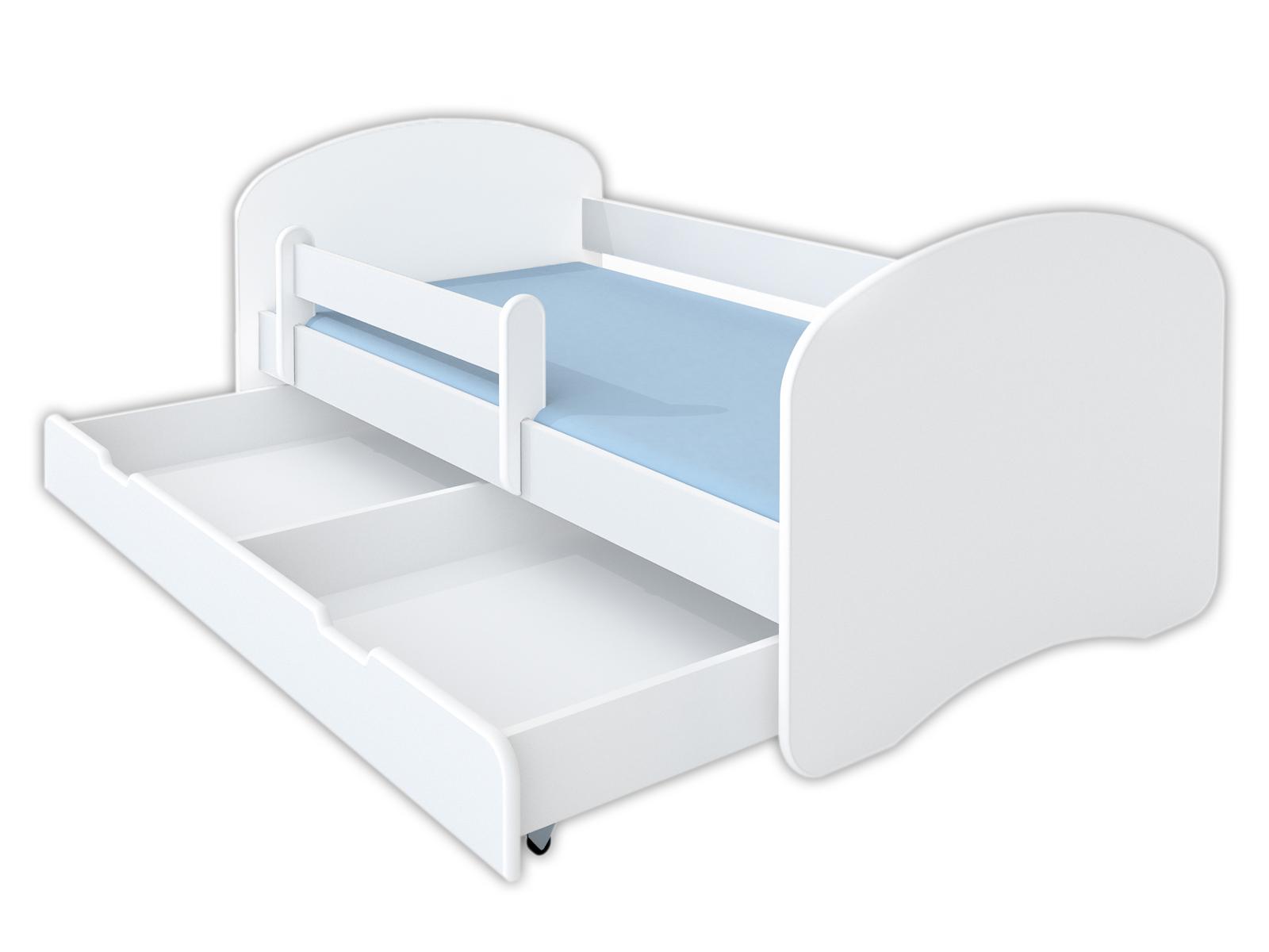 Łóżko dziecięce 180x90 białe - szuflada i materac