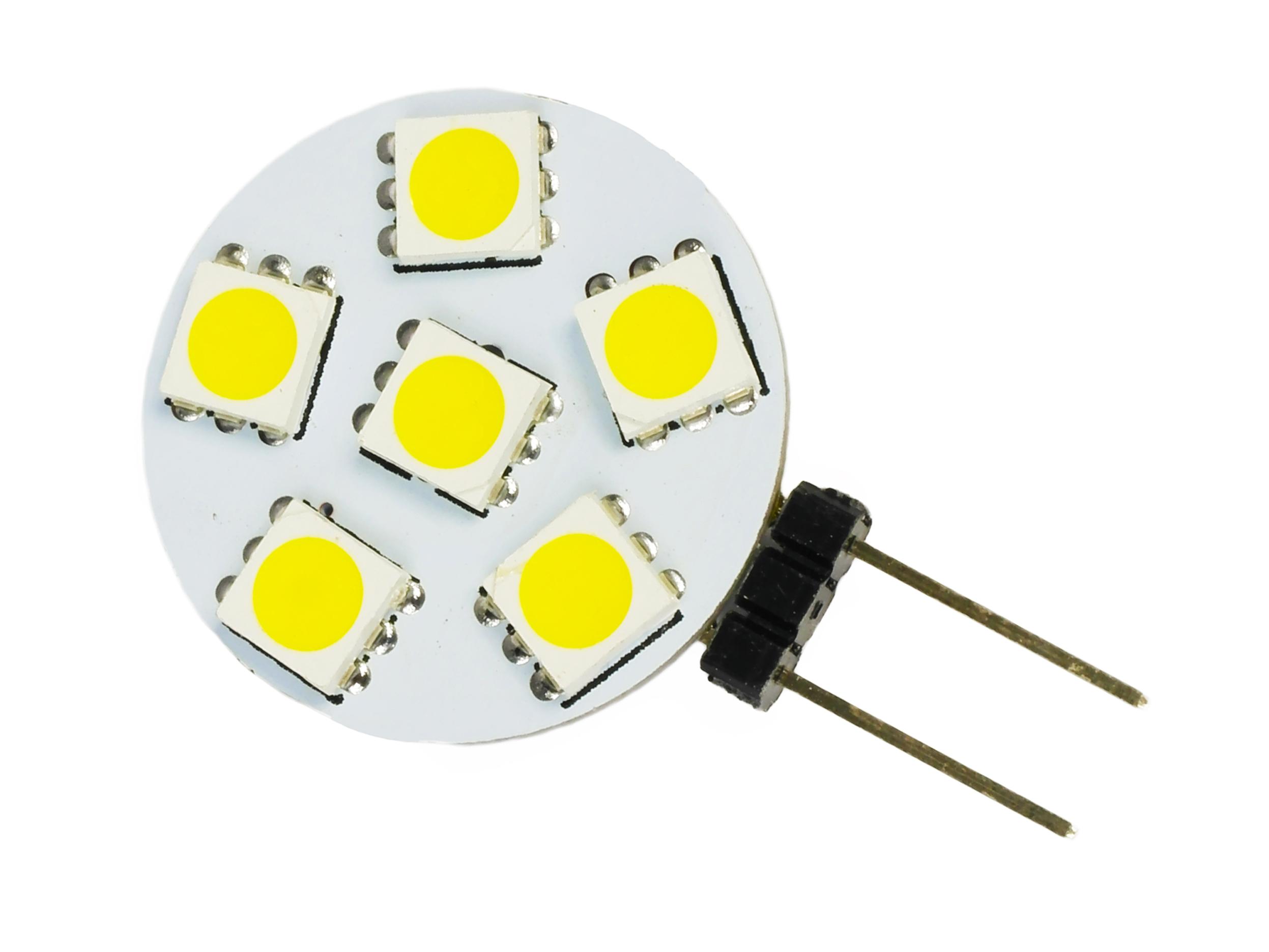Žiarovka G4 6 LED 12V 1.5W 5050 SMD 100LM