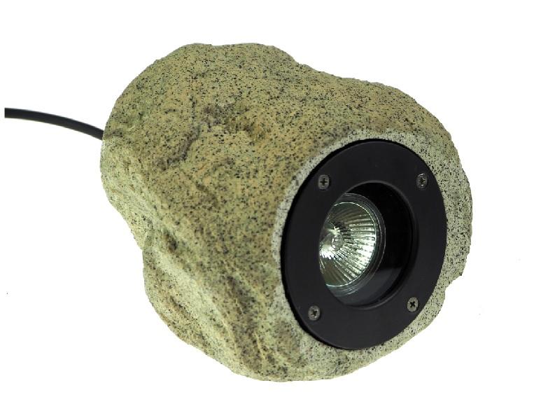 ЛАМПА для сада , галогеновая лампа В КАМНЕ  -235 20W