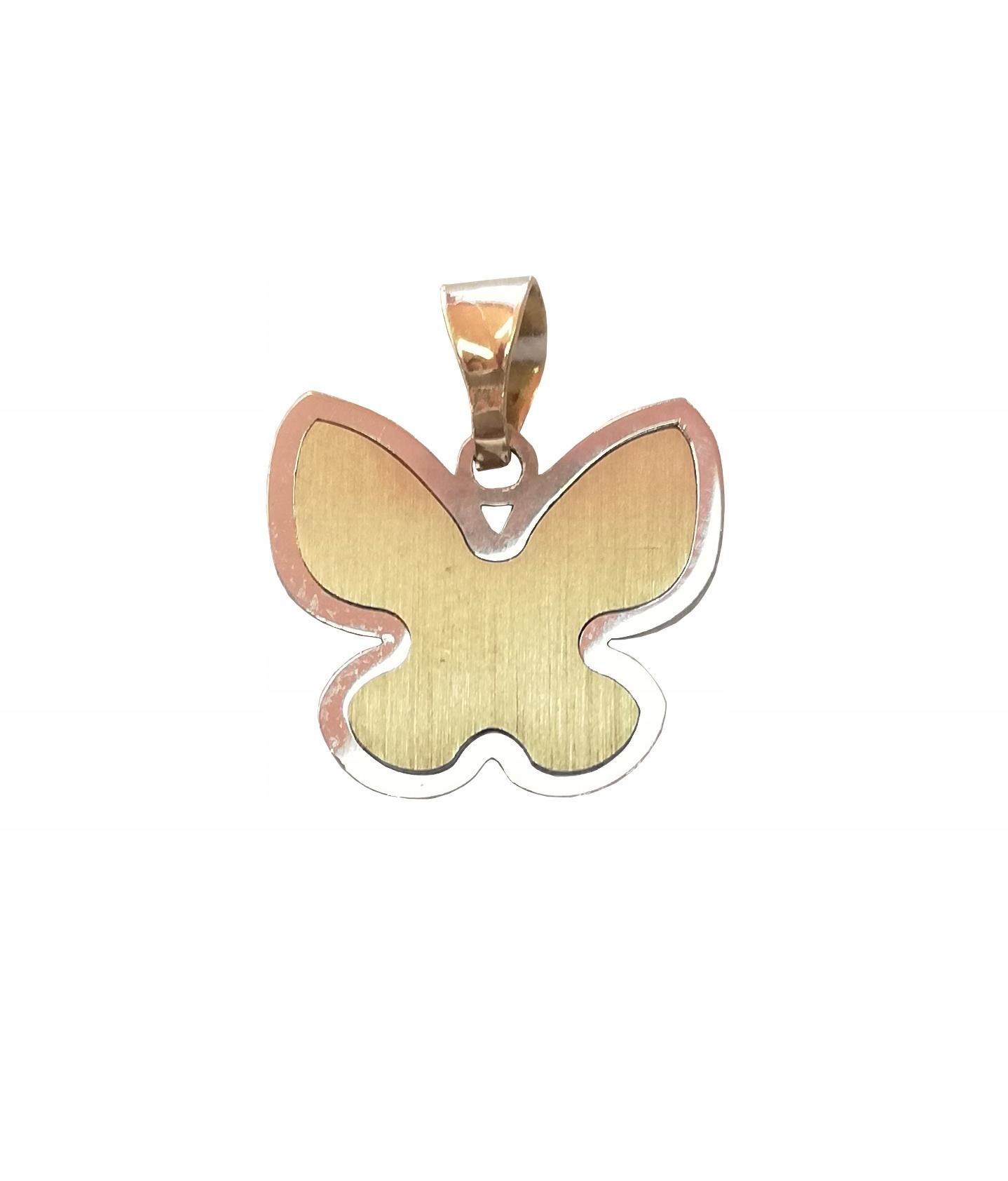 Prívesok motýľ pr. 585 zlato, biele zlato