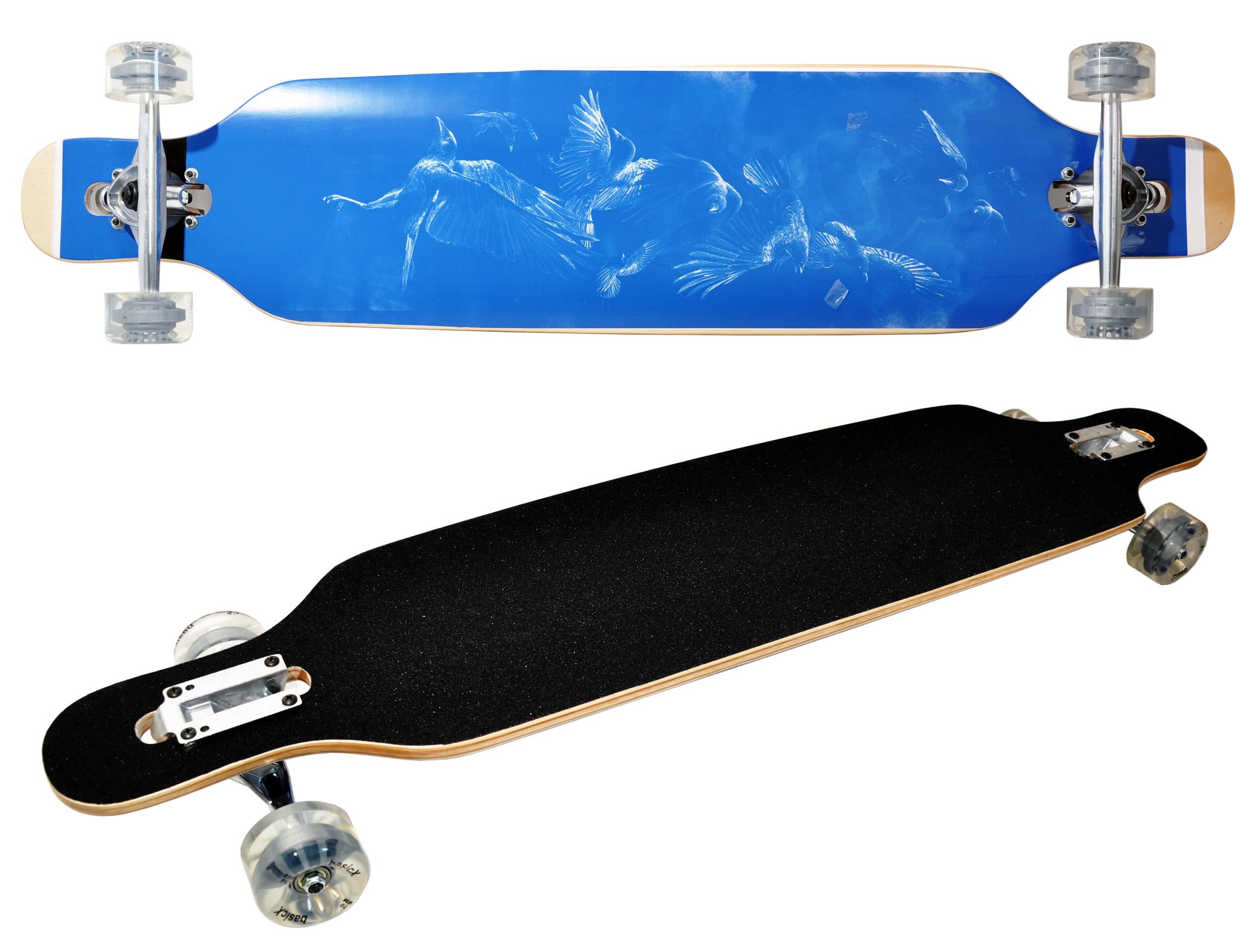 Longboard Drop-Through Skateboard ABEC-7 PU 85A