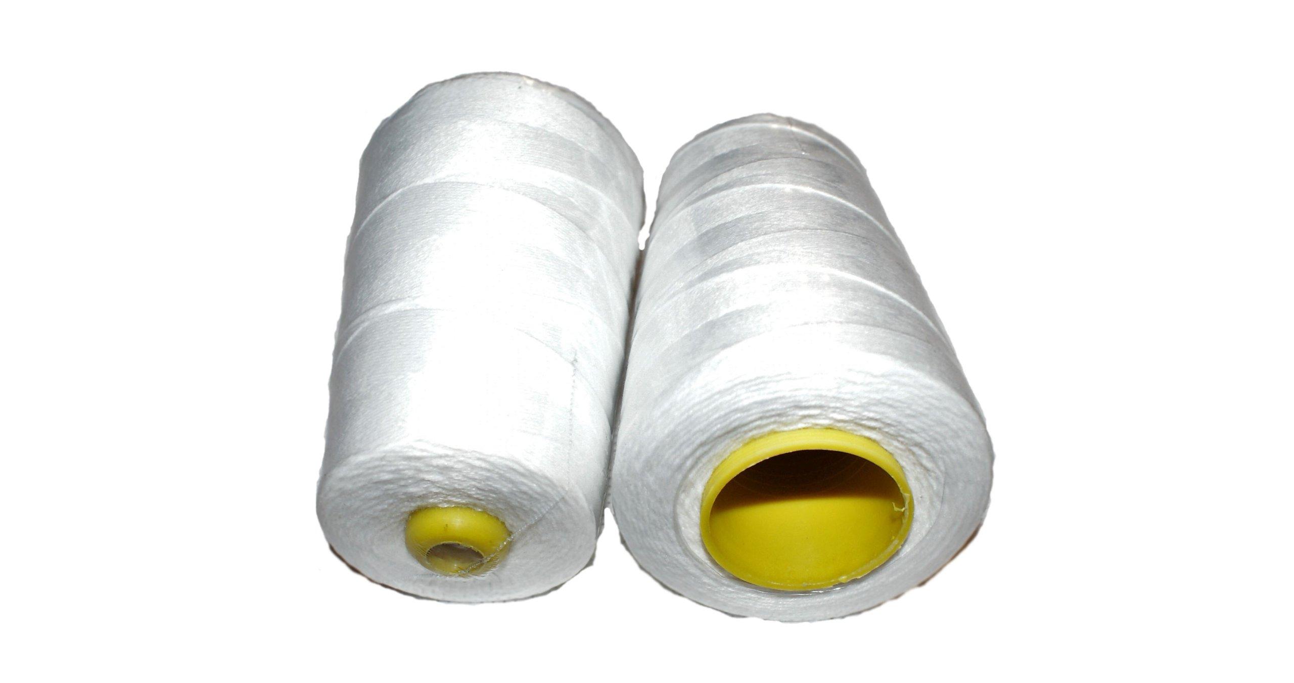 Нитки для шитья полипропиленовых бумажных мешков.