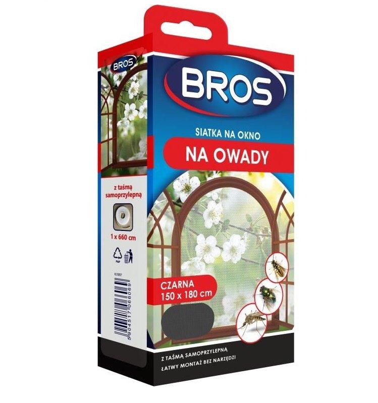 GRID pre okno BROS 150x180 pre komáre čierne