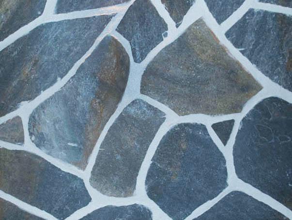 Podlahové kamenné podlahy modrá bridlice gr.3-5 cm