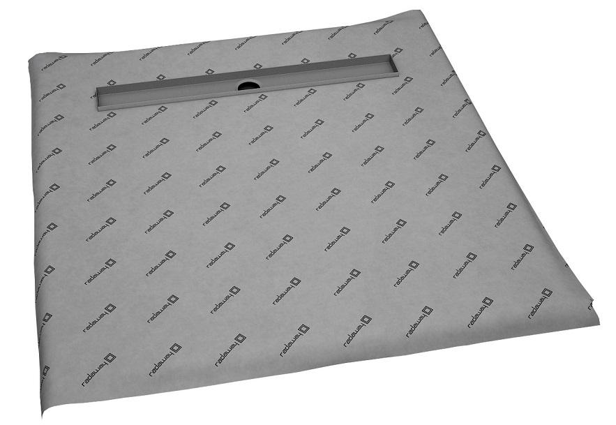 Sprchová vanička pod dlaždice lineárny odtok 120x120 8-12mm