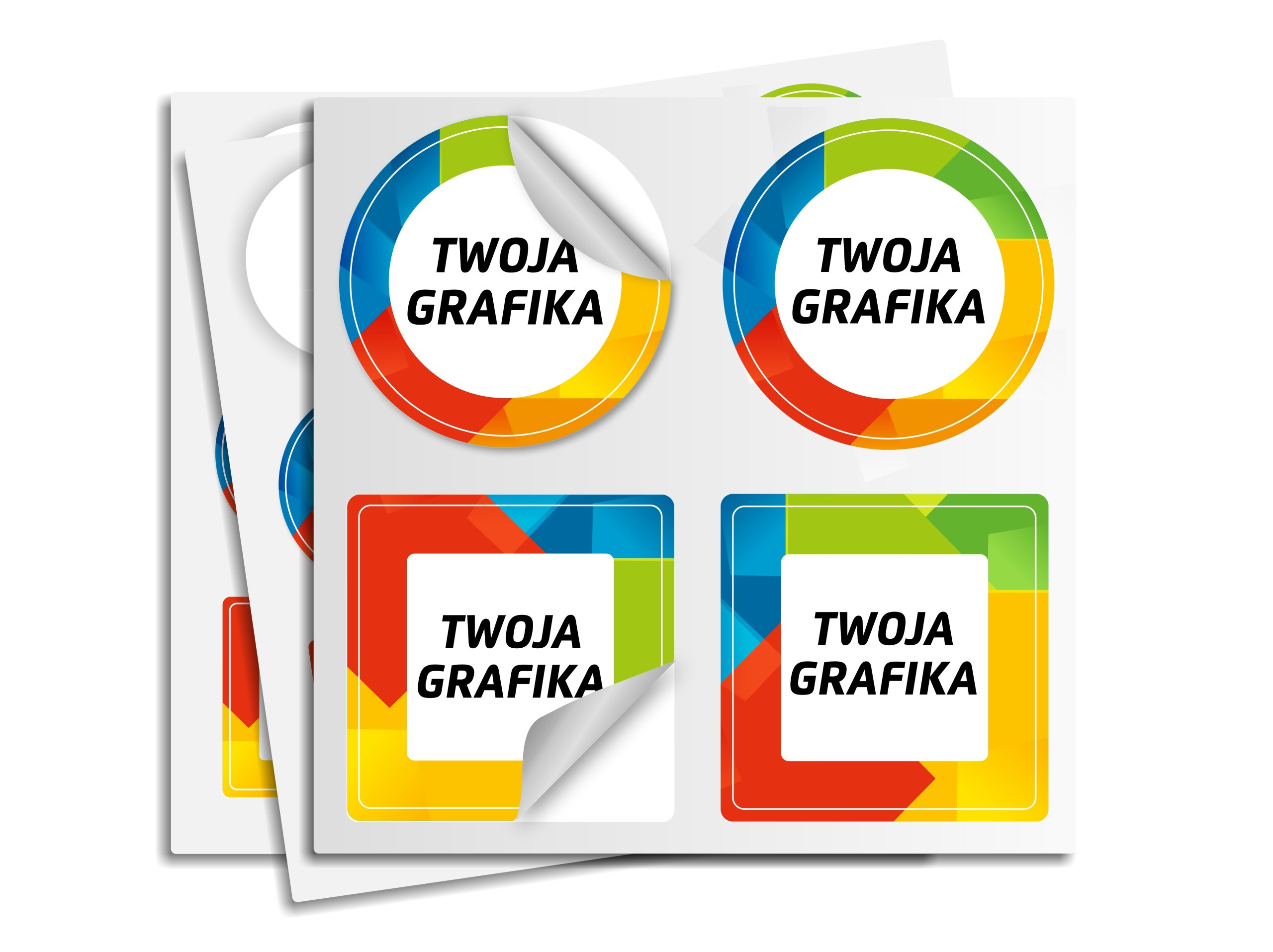 Item STICKERS FOIL ANY SHAPE PRINTING SIZE