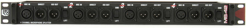 Proco Ms42A Microfone Splitter 4-Kan Super Bargain