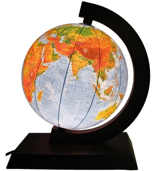 Globe 250 mm 2 v 1 Osvetlené STROM ** DARČEK