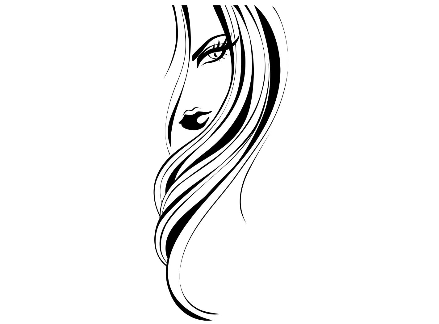 Nástenné nálepky Ženy Glamour žena 100cm