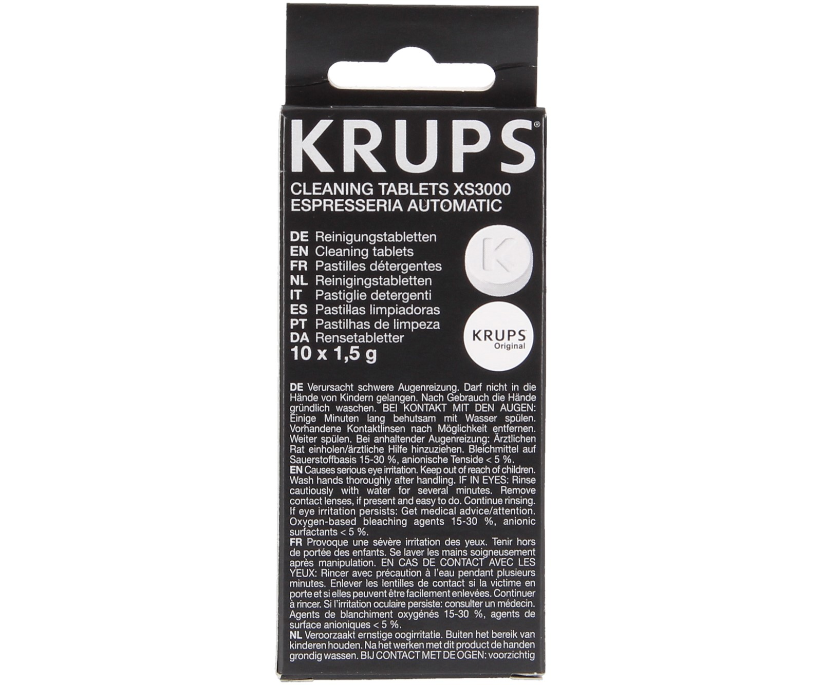 10x ТАБЛЕТКИ для очистки кофемашины KRUPS XS3000