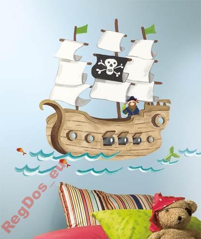 nálepku Lode, Plachetnice Okret piráti, pirátske