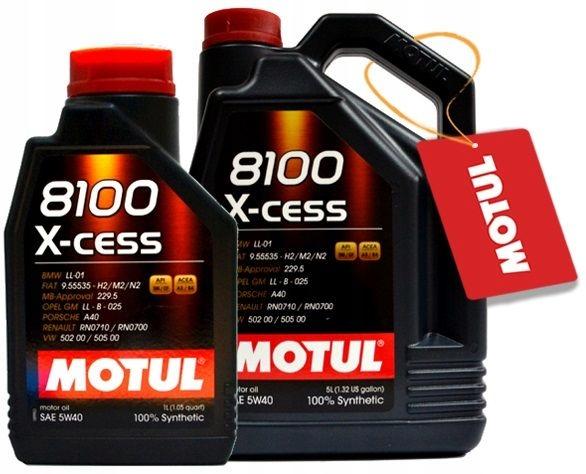 MOTUL 8100 X-CESS 5W40 6L (5+1) + GRATIS