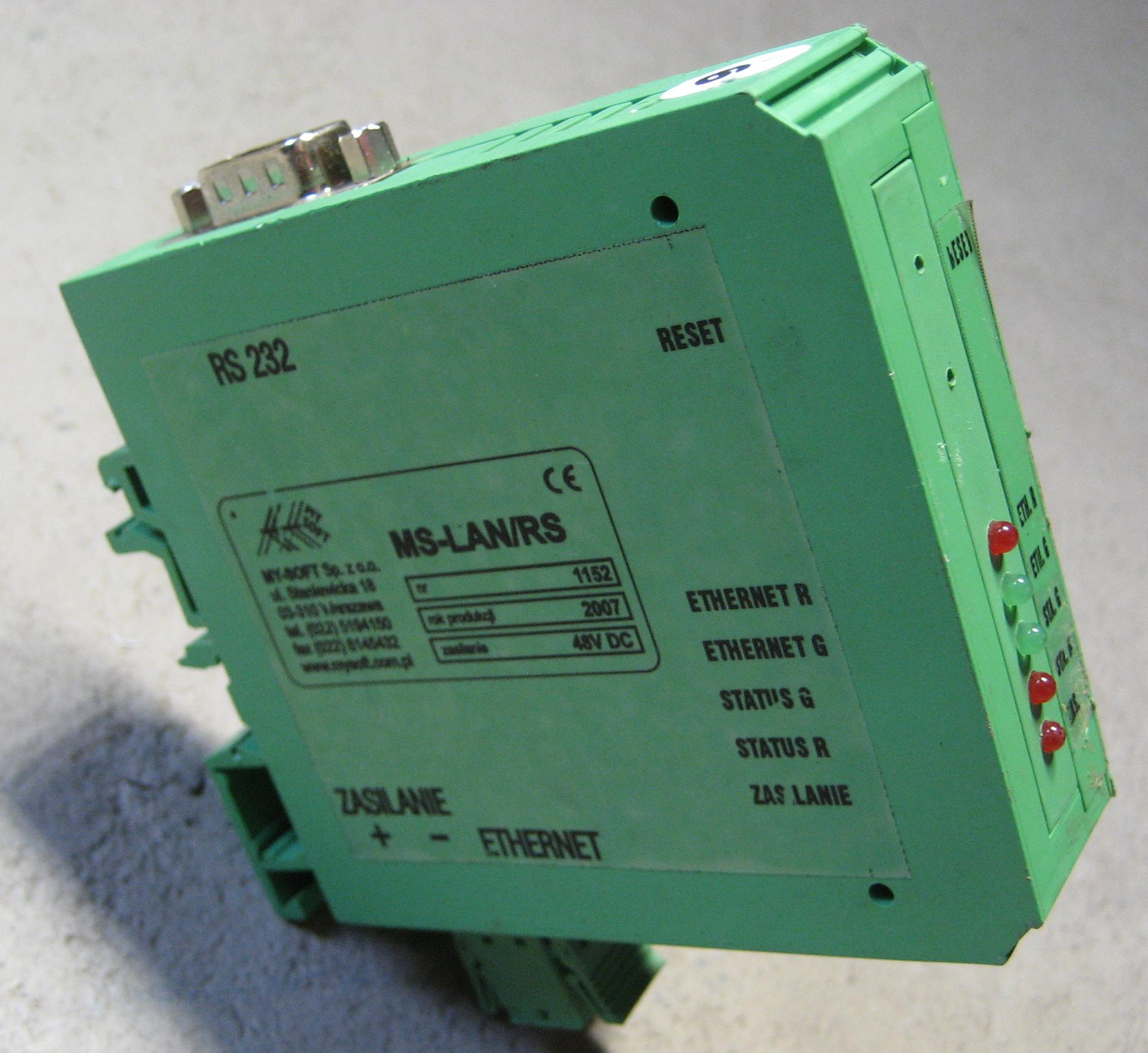 RS232 Converter -> Ethernet My-Soft MS-LAN / RS