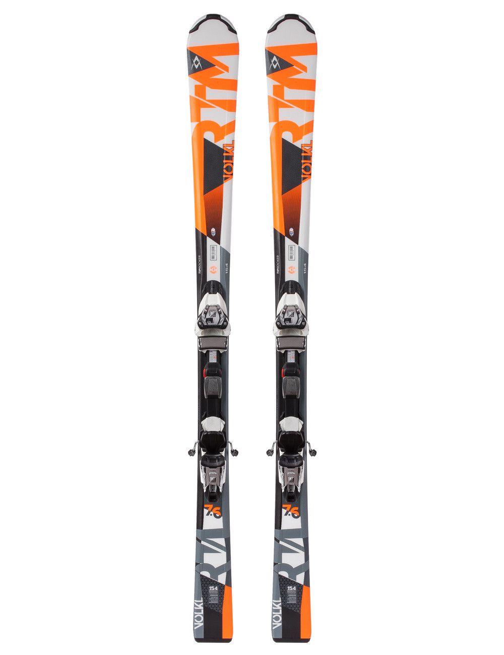 Лыжи Volkl RTM 7.6 + Marker 10.0 Fastrak, длина 168см