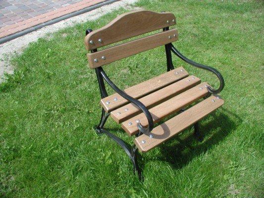 Kreslo / Stolička, vonkajší retro dub / železná noha
