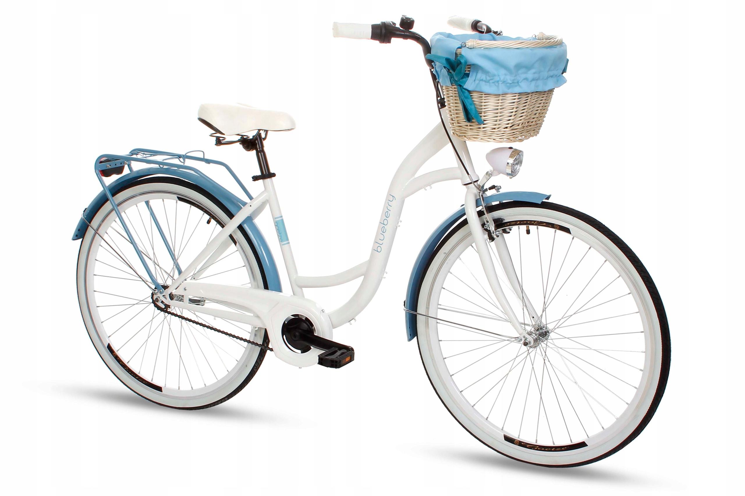 Dámsky mestský bicykel Goetze BLUEBERRY 28 košík!  Váha 16 kg