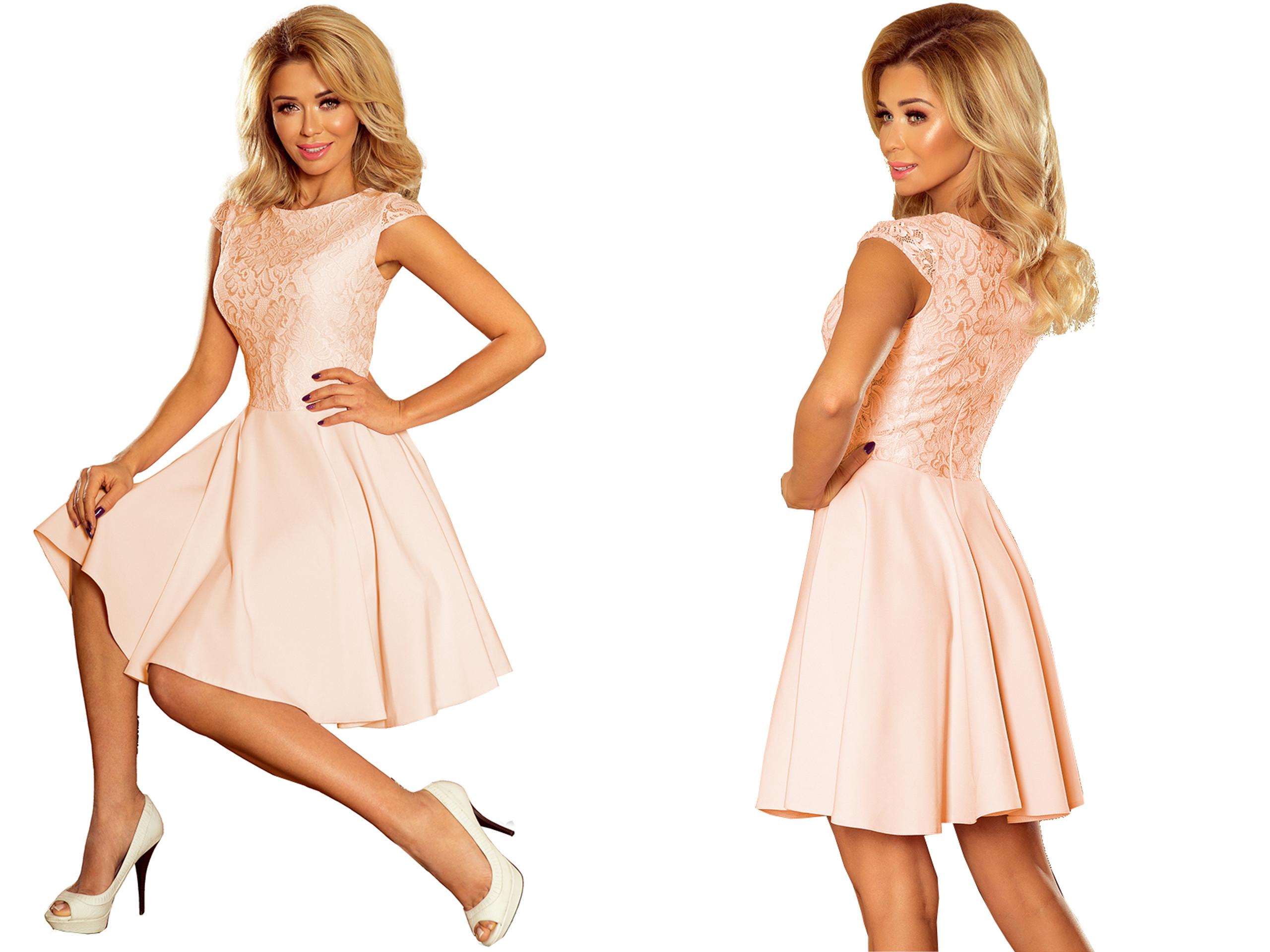 Piękna Sukienka Na Wesele Rozkloszowana 157-7 S 36