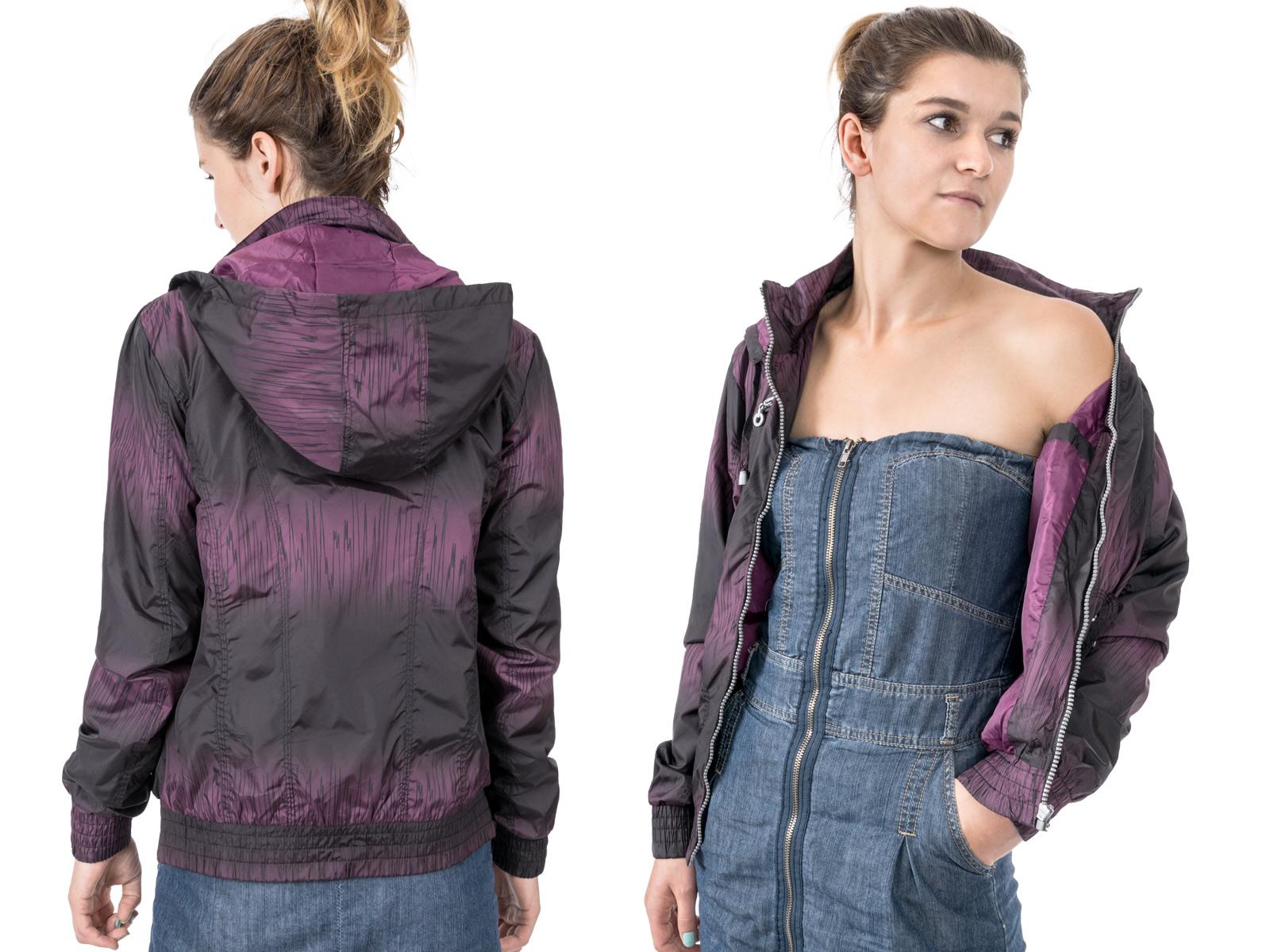 09d3065afc6 Купить Куртка Женская Ветровка с Капюшоном 1505 r S фиолетовый на Otpravka  - цены и фото