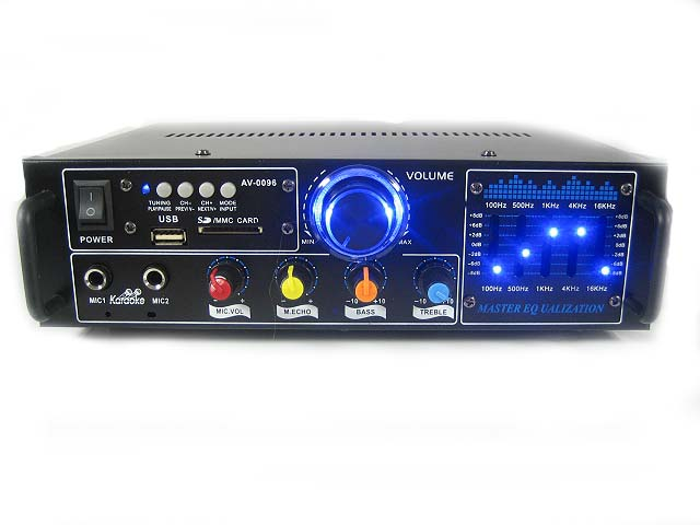 Zosilňovač Stereo 0096 USB MP3 MP3 FM 2XMIC USB