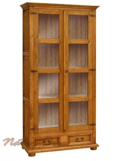Drevená vitrína 6, retro polica, vidiek