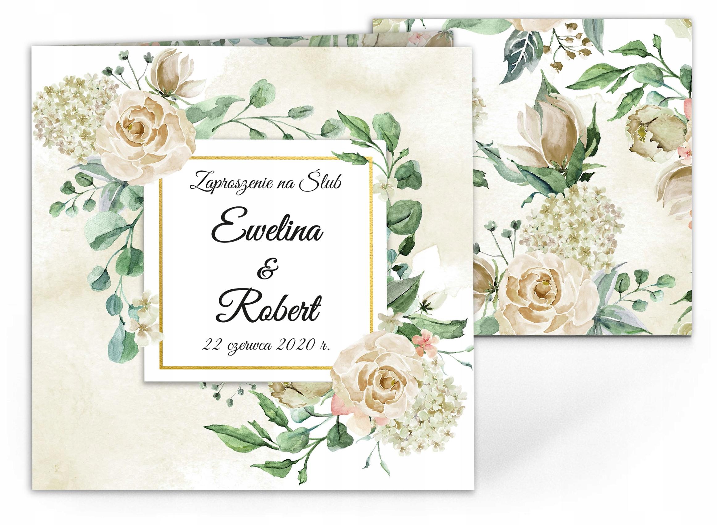 Zaproszenia ślubne Rustykalne Boho Tacjana KOPERTA