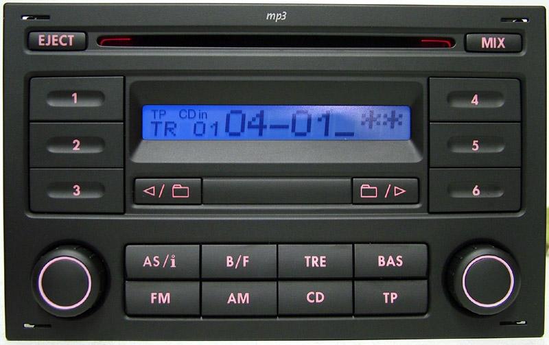 радио vw rcd200 mp3 vw транспортер t5