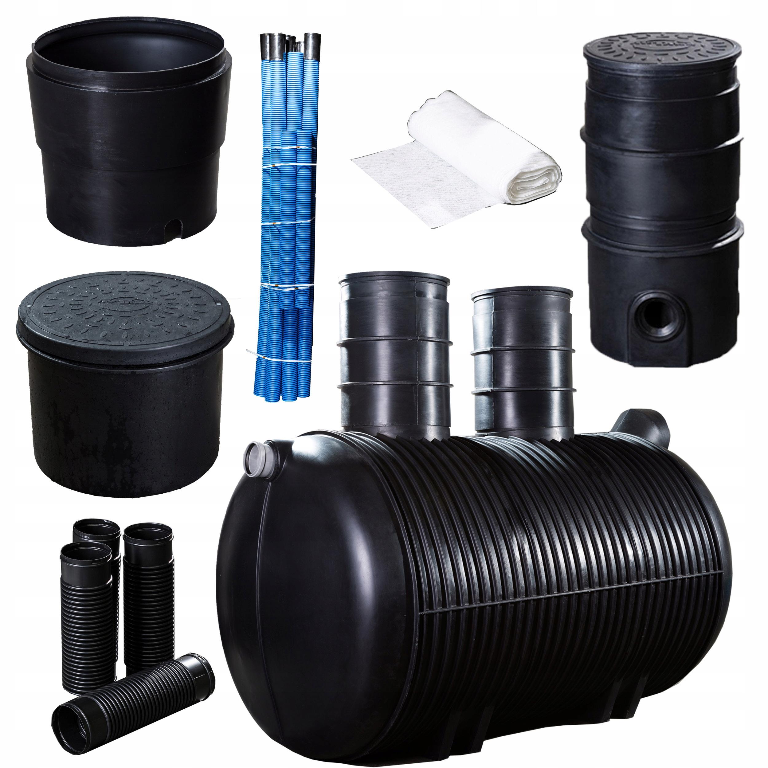 Очистные сооружения хозяйственно-бытовых сточных вод на 7-8 человек 3000л