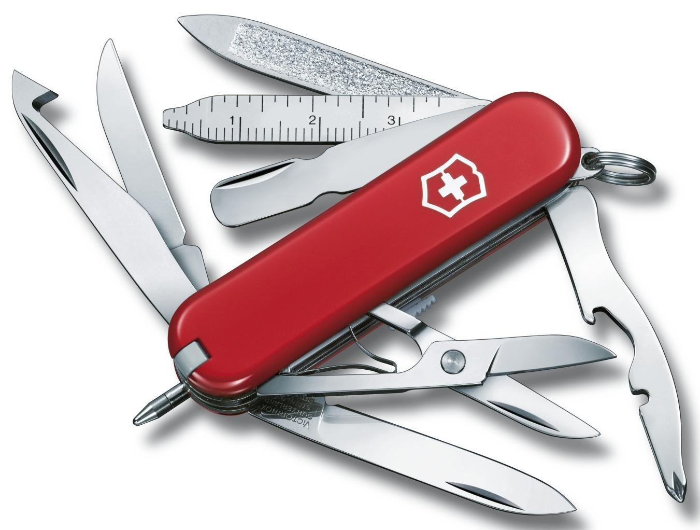 vreckový nôž Victorinox 0.6385 MiniChamp červená