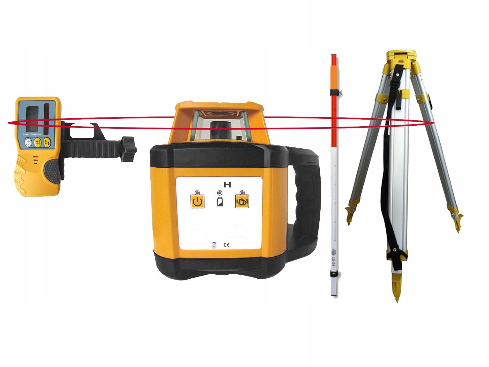 Niwelator laserowy obrotowy zestaw statyw łata HIT