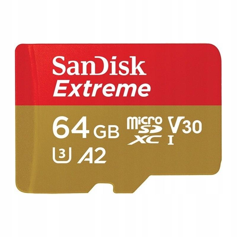 Sandisk Micro SDXC 64GB EXTREME 160/60MB/s A2 U3