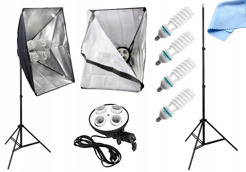 Item LAMP continuous light + softbox 50x70 + 4 x 400 W