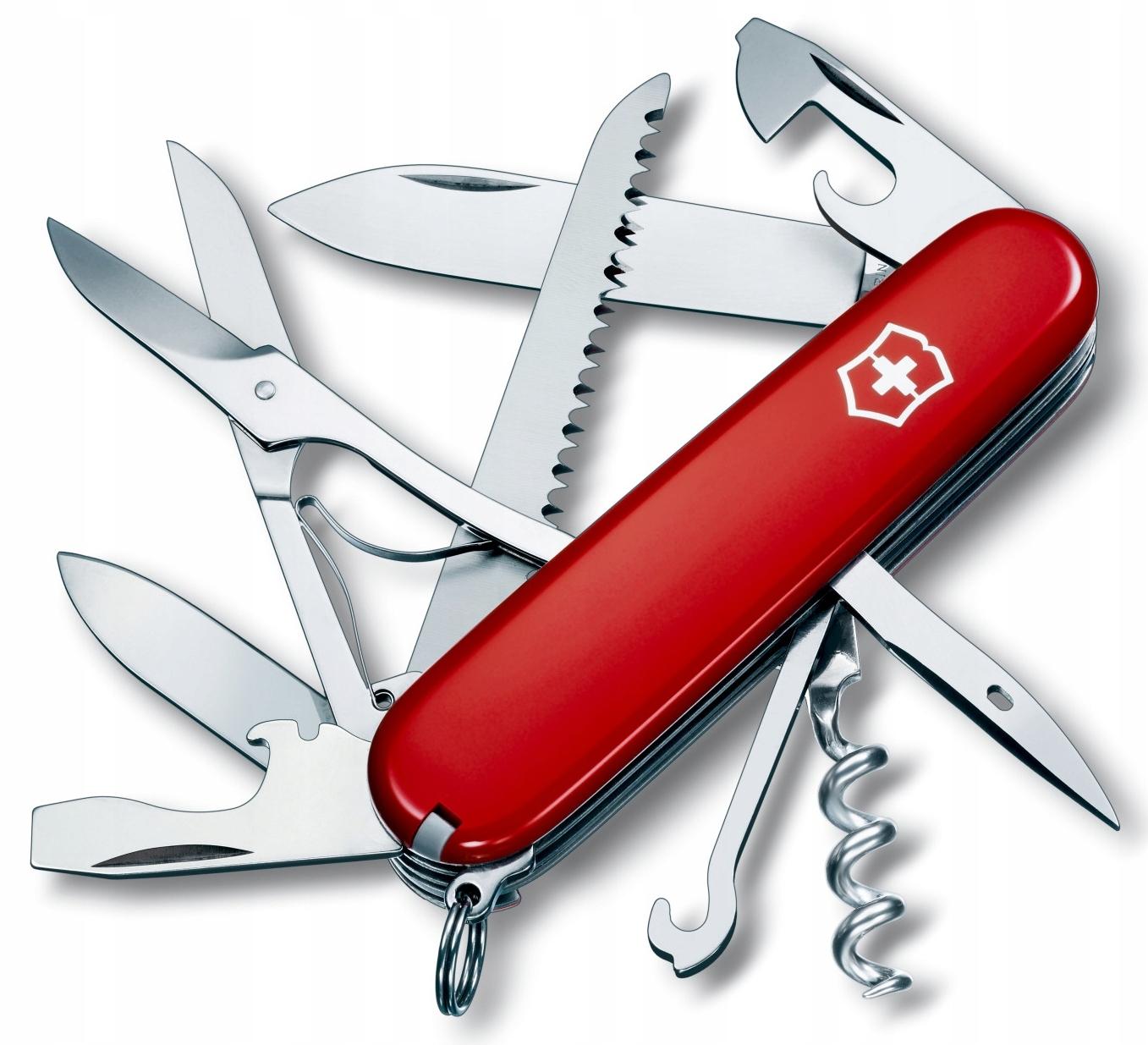 vreckový nôž Victorinox Huntsman 1.3713 91mm, červený
