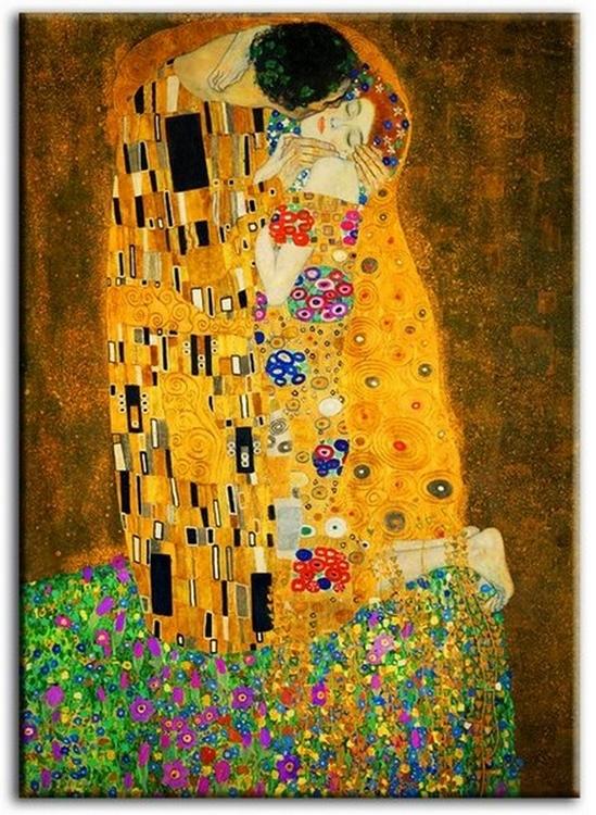 Reprodukcia Gustav Klimt Kiss 50x70cm obrázok