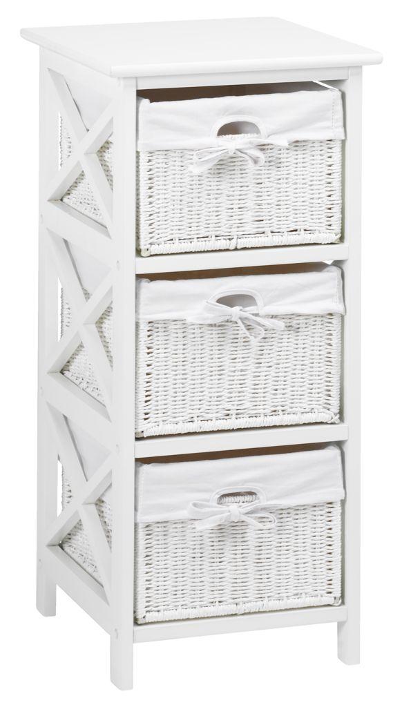 štýl IKEA biely toaletný stolík wiklinowa Kabinetu 3 koše