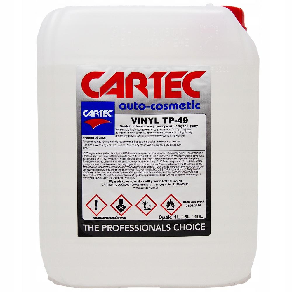 CARTEC VINYL TP-49 5L глянцевая резина, пластик