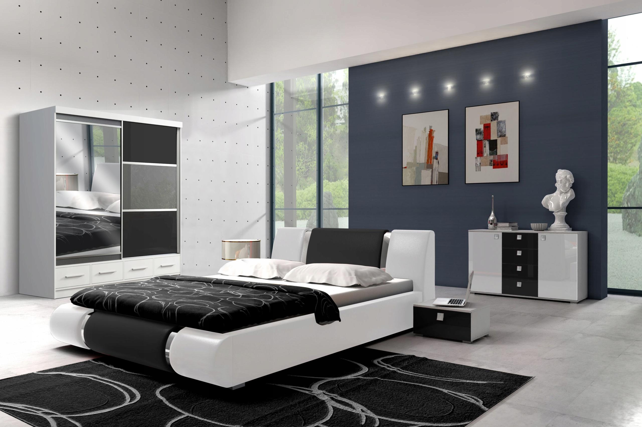 МЕБЕЛЬ для спальни кровать шкаф КОМОД ВЫСОКИЙ блеск