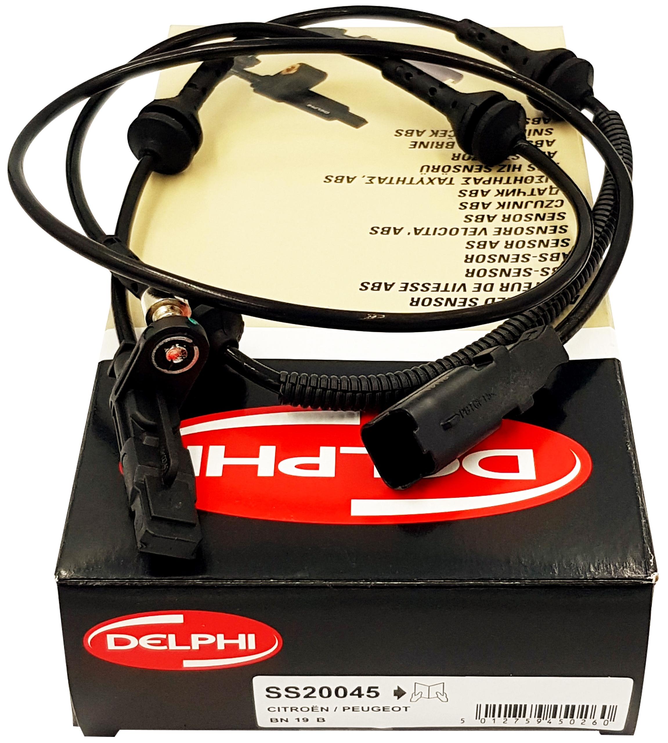 citroen c6 peugeot 407 датчик abs вперед delphi